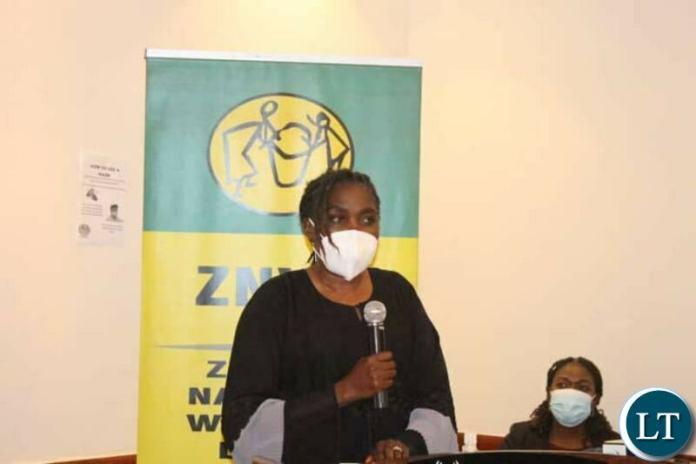 Zambia National Women's Lobby Board Chairperson Beauty Katebe