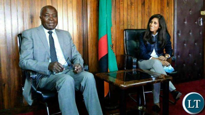 International Monetary Fund Resident Representative for Zambia Preya Sharma  meeting with Finance Minister Dr. Situmbeko Musokotwane