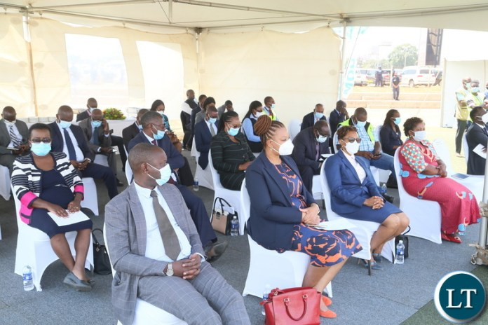 Permanent Secretaries following the proceeding during the relaunch of COVID-19 vaccine at OYDC