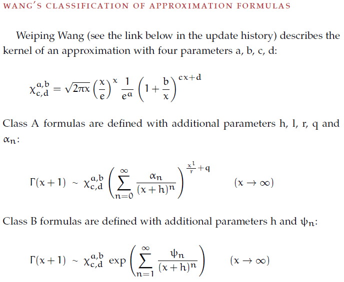 Approximations For The Factorial Function