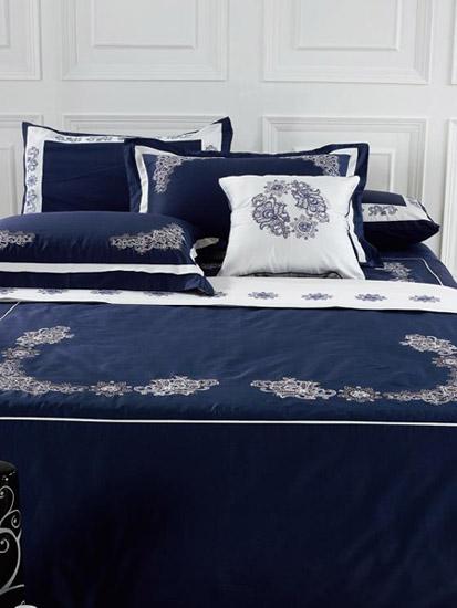 dark blue and purple bedding sets