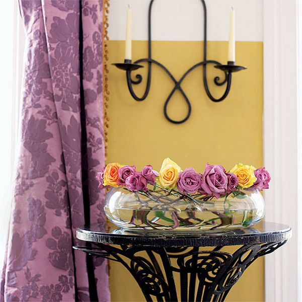 Green Yellow Kitchen Curtains And