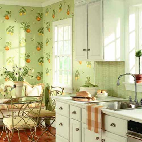 Green Kitchen Paint Colors And Green Wallpapers For