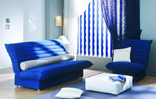 Sapphire Blue Room Colors Deep Blue Color Combinations For Room Decorating