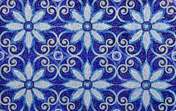 Modern Wall Tile Designs In White And Blue Colors Inspired