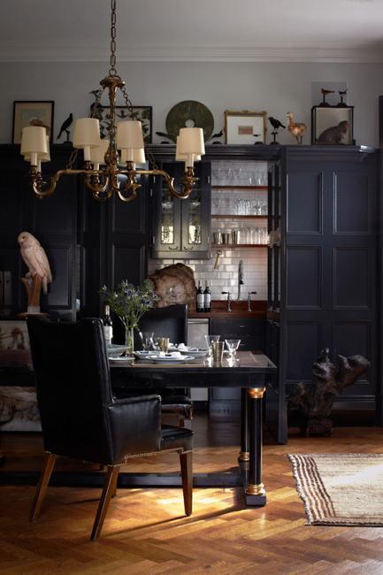 Retro Modern Interior Design Ideas Creating Mysterious