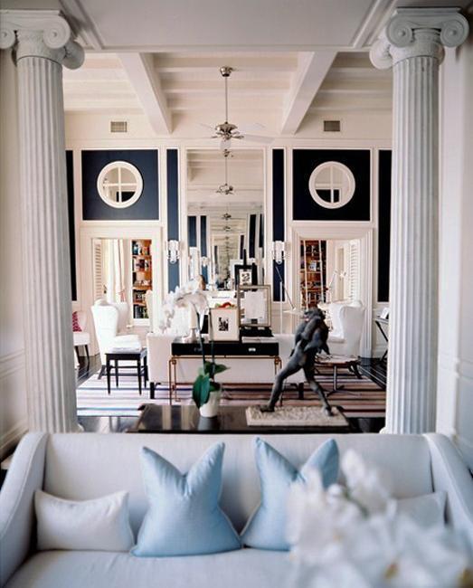 35 Modern Interior Design Ideas Incorporating Columns Into