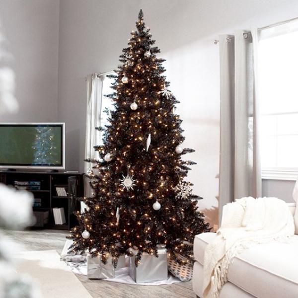 Blue Green Silver Christmas Tree Decorating Ideas