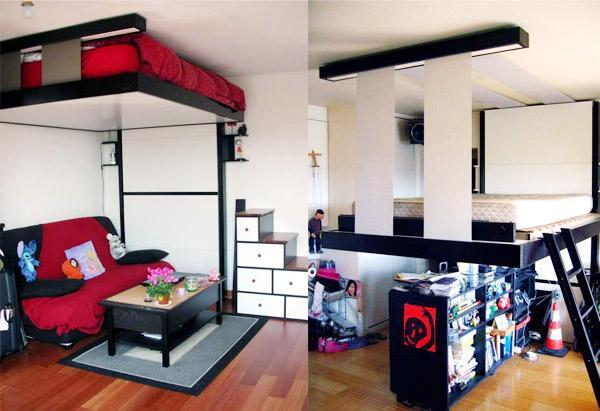 Built Into Ceiling Beds Space Saving Retractable Beds For Small Spaces