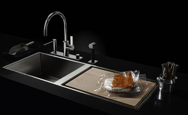 Stainless Steel Kitchen Sinks And Modern Faucets