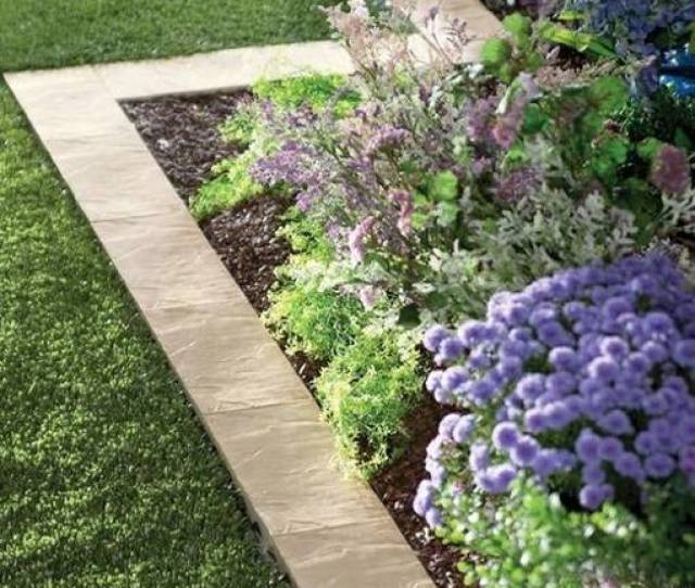 Flower Beds And Lawns With Paver Borders