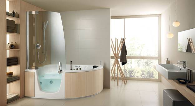 Stylish Bathtubs And Shower Enclosures Modern Bathroom