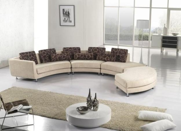 Round Fabric Coffee Table
