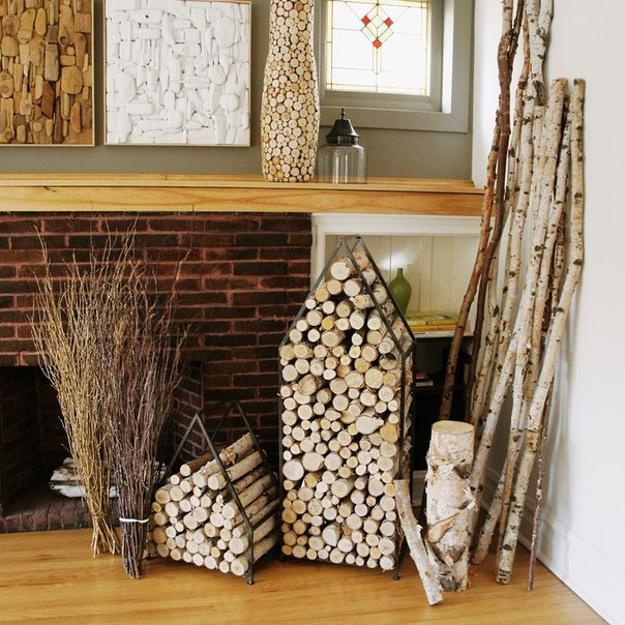 Creative Interior Design With Wood 25 Firewood Storage