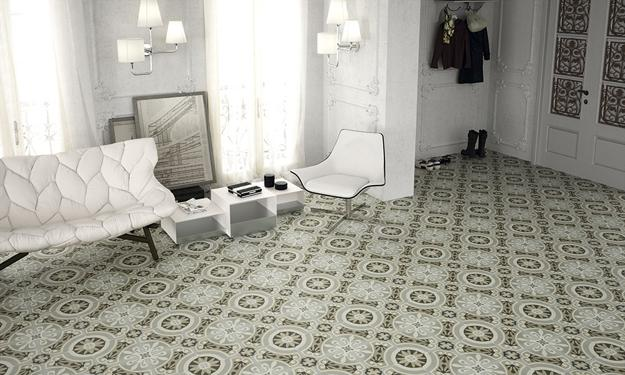 Vintage Style Floor Tiles For Spectacular Eclectic