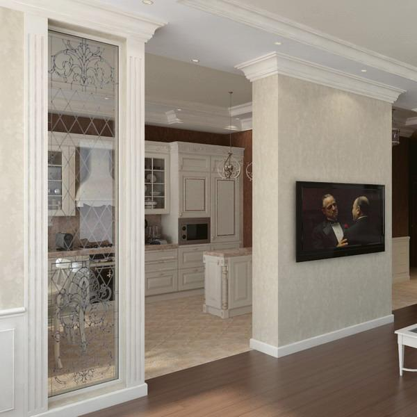 Modern Interior Design With Decorative Pilasters Adding Classic Chic To Spectacular Spaces