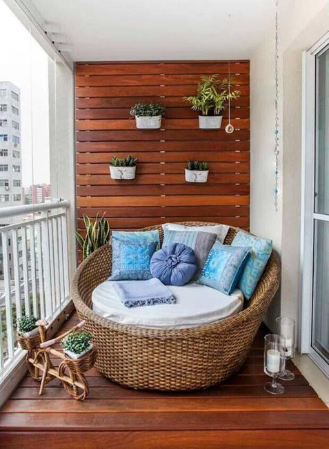 Beautiful Materials For Small Balcony
