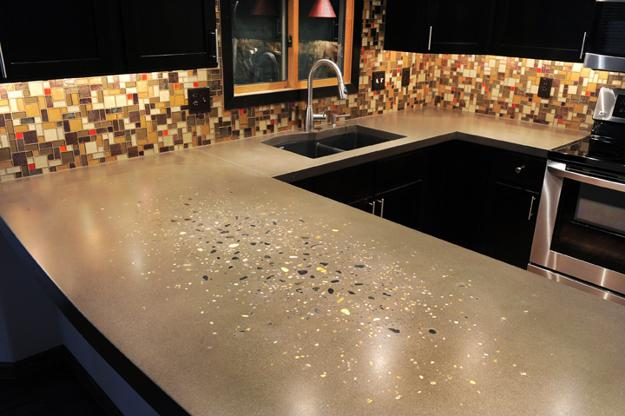 22 Contemporary Concrete And Stone Kitchen Countertop Ideas