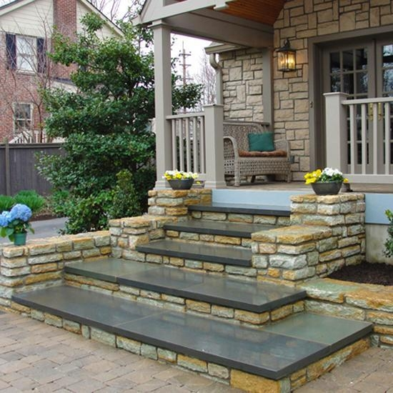 Entrance Staircase Designs To Beautify Homes And Improve Curb Appeal | Outdoor Steps Design For House | Deck | Beautiful | Unique Outdoor | Brick | Farm House Wide Front Porch