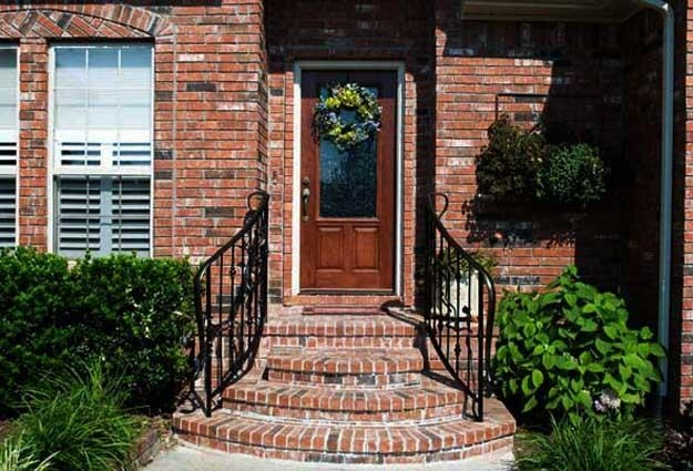 Building Exterior Stairs With Classy Bricks And Modern Tiles | Front Door Stairs Design | Main Door Stair | 2Nd Floor | Villa | Brick | Residential