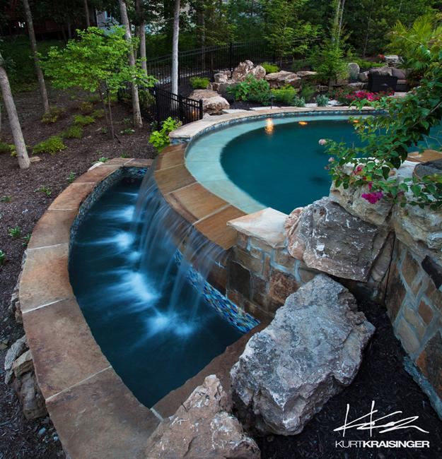 Negative Edge Pool Designs And Spillover Waterfalls