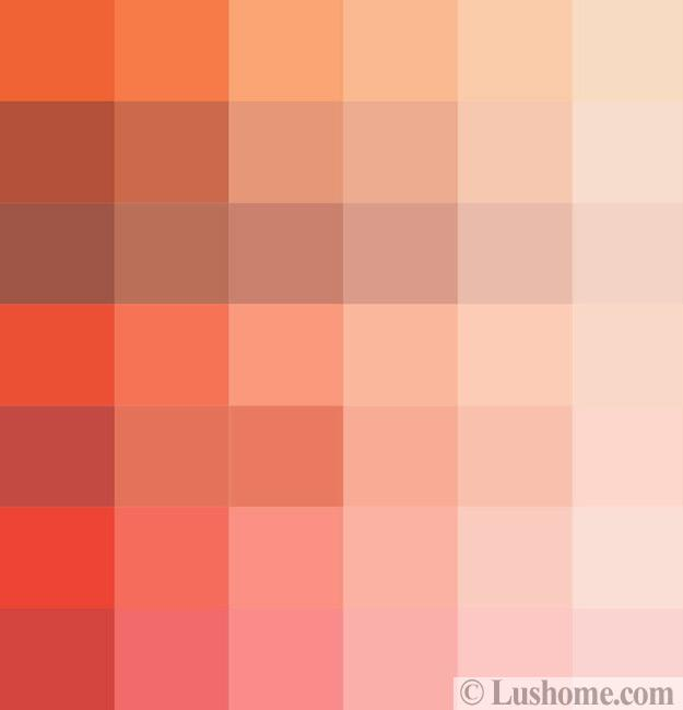 Tender And Bright Orange Pink Color Shades Creating Warm Modern Interiors