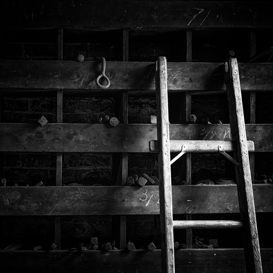 Lawrence History Center: Ladder and Bins