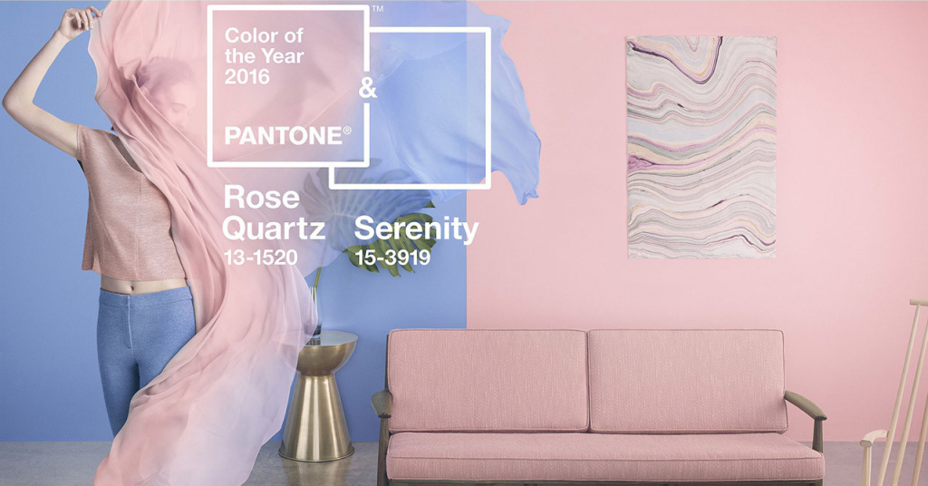 Pantone Colour of the Year 2016 Rose Quartz & Serenity