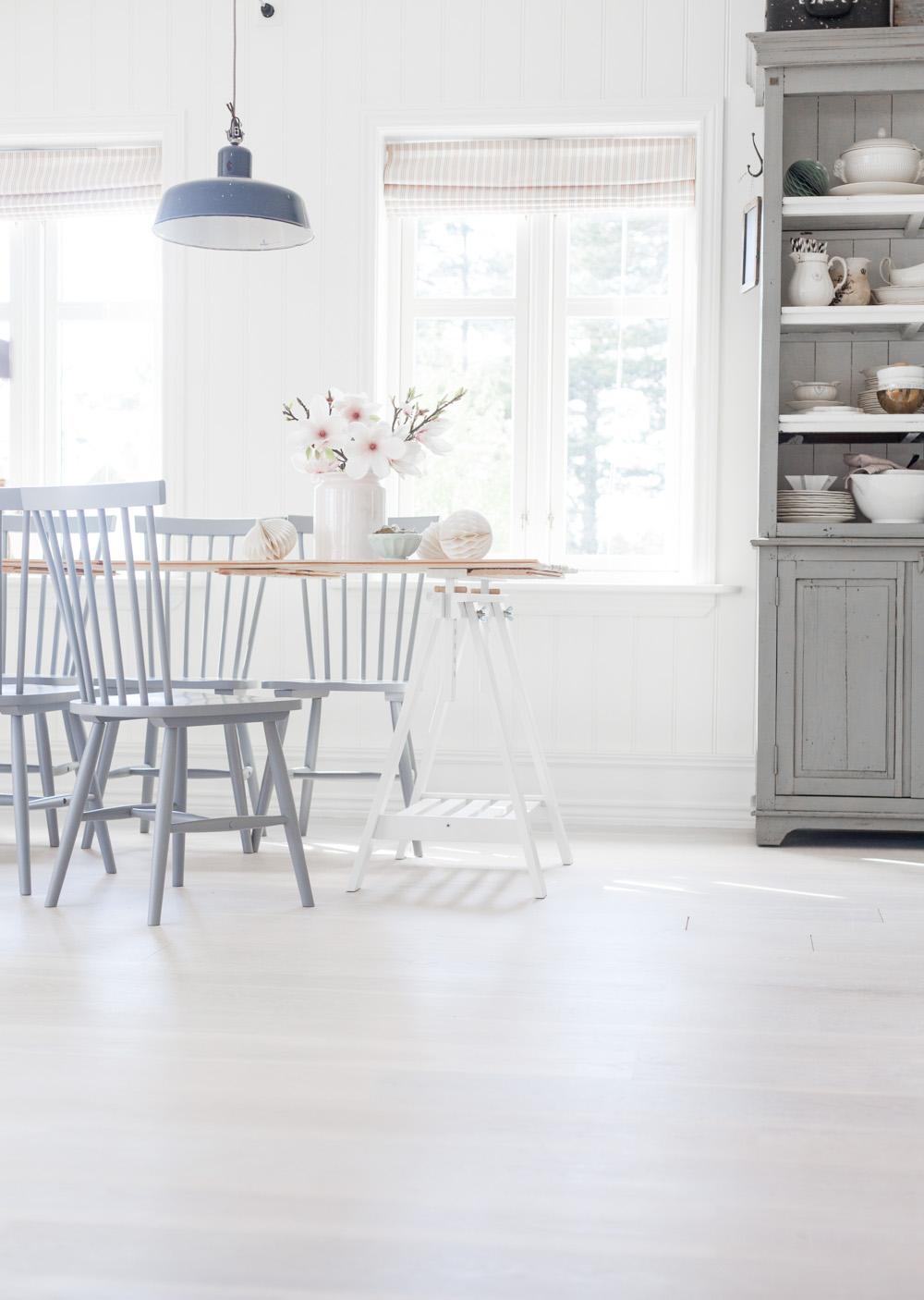 Pastel Blue Dining Room