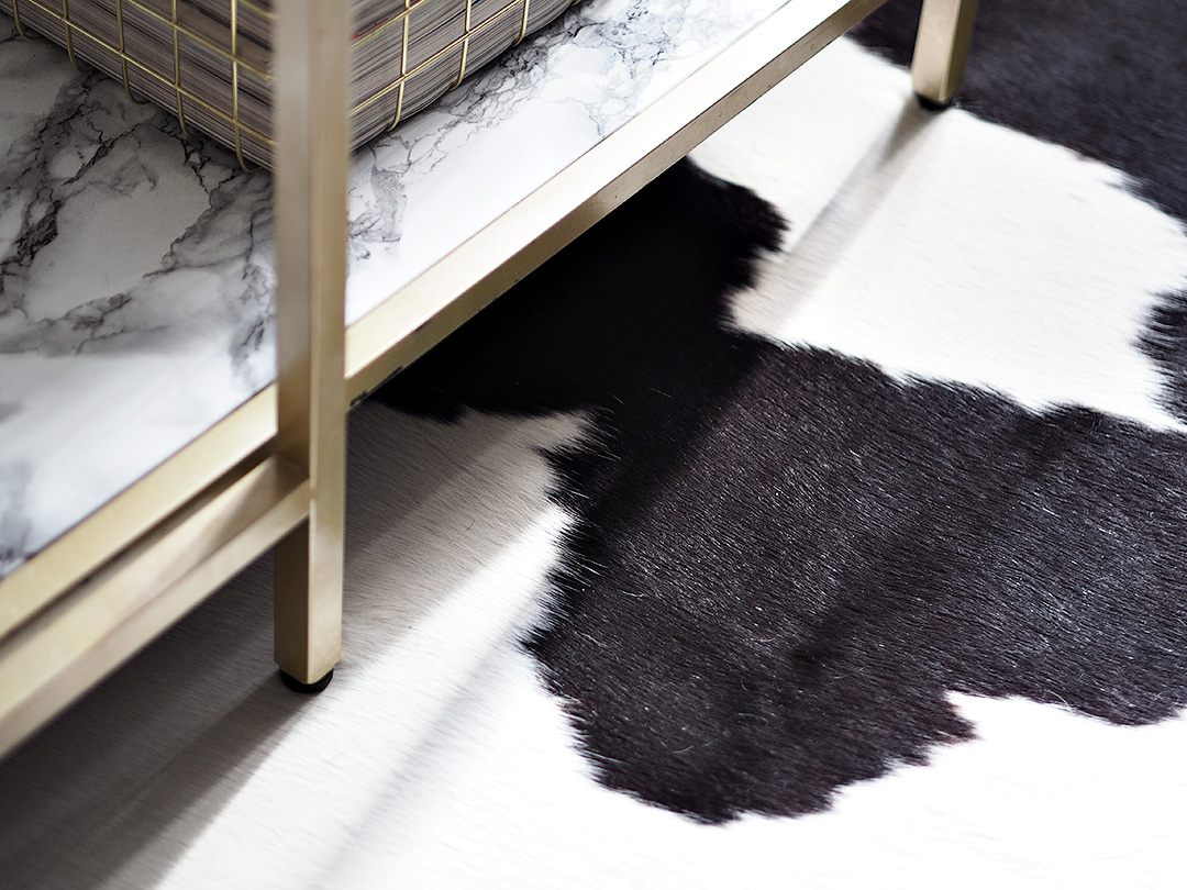 cow hide rug