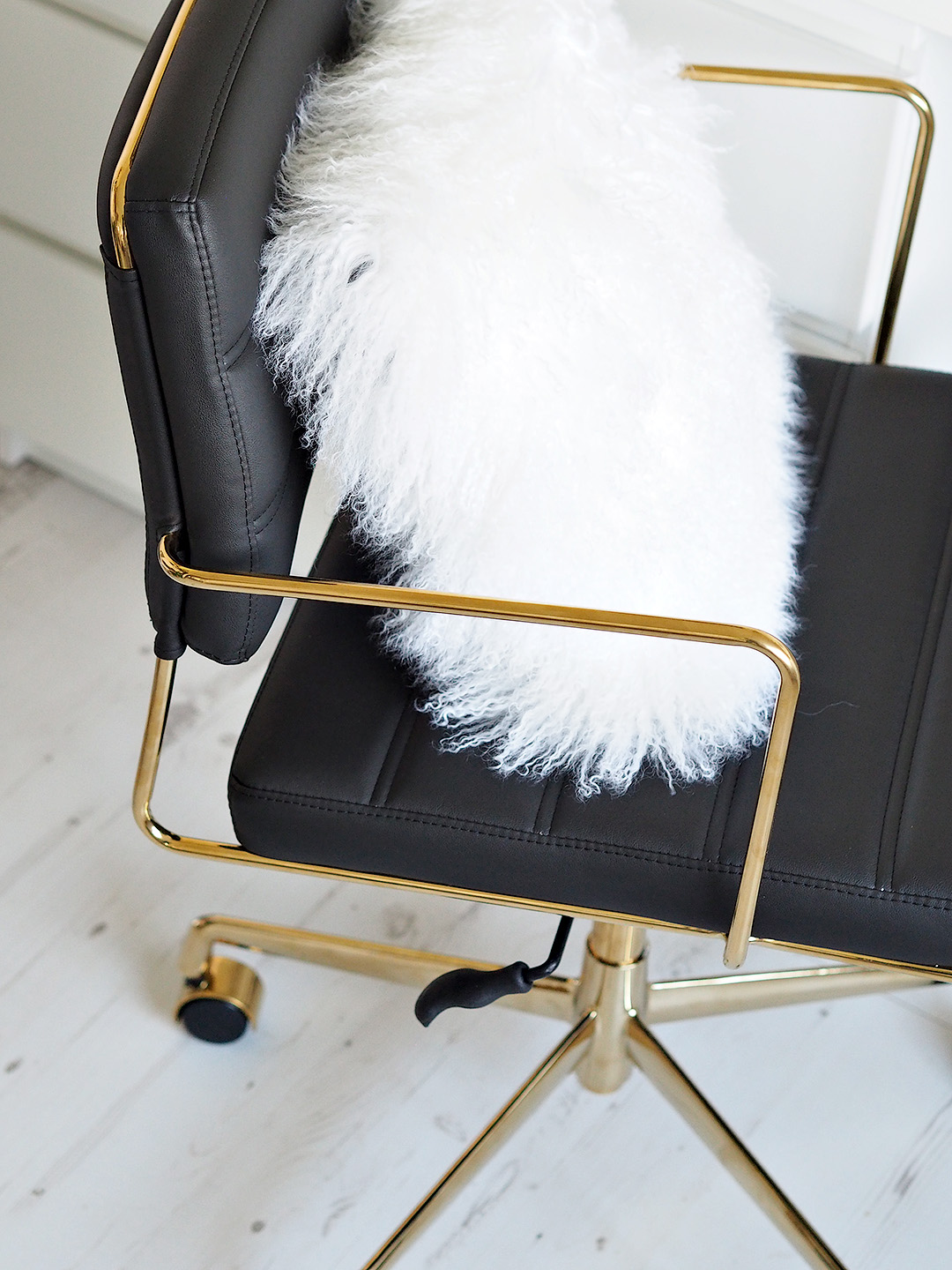 White & Gold Office