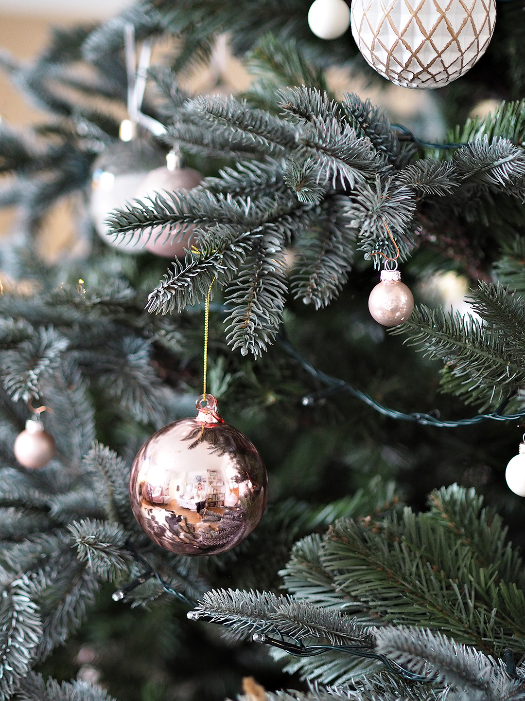 Pink Glass Christmas Tree bauble