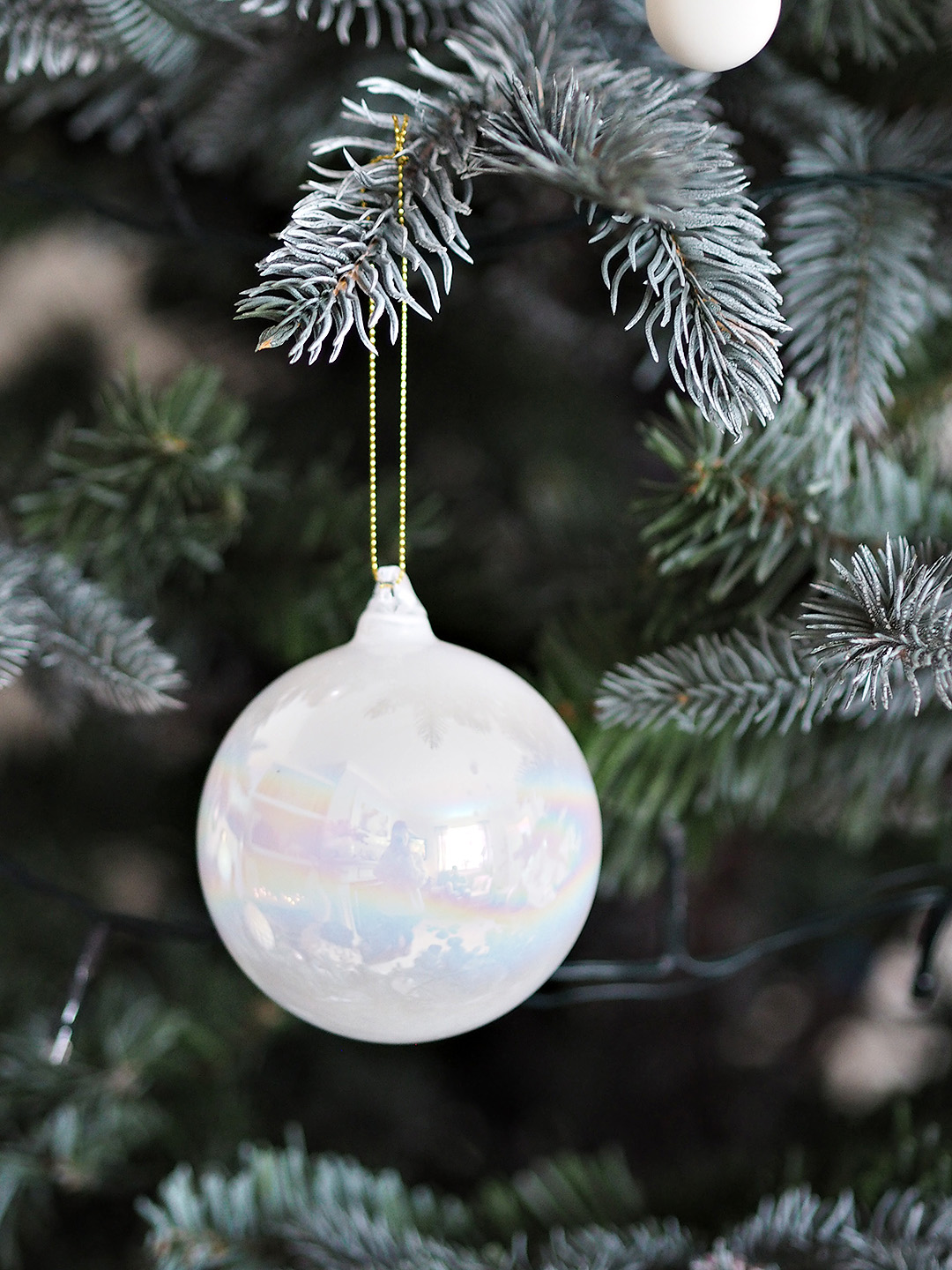 Pearl Glass Christmas Tree bauble