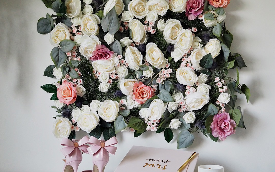 DIY Faux Flower Wall Feature
