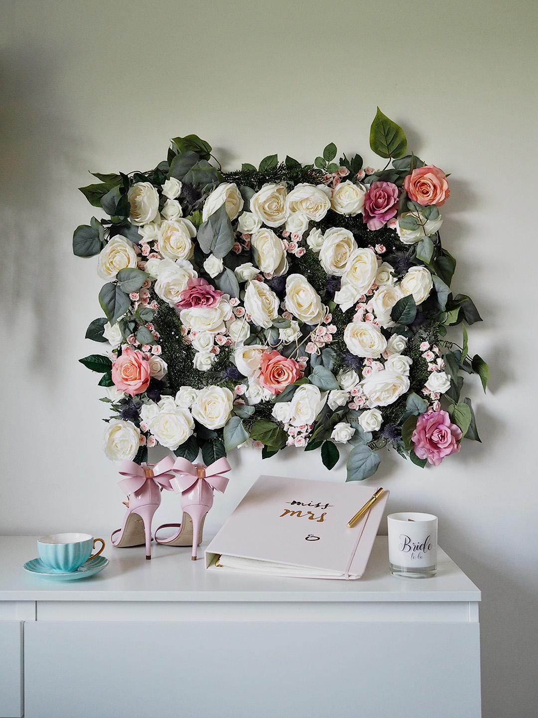 DIY Faux Flower Wall