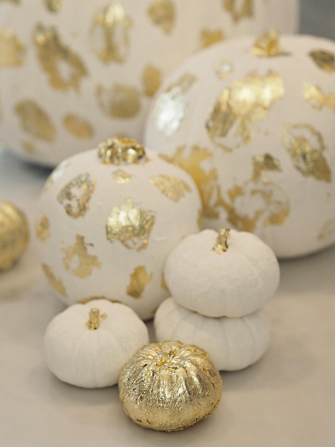 DIY Gold Confetti Pumpkins Dalmatian Print