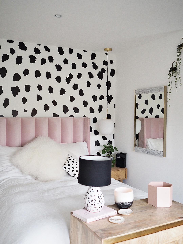 Dalmatian Print Pink Parlour Bedroom