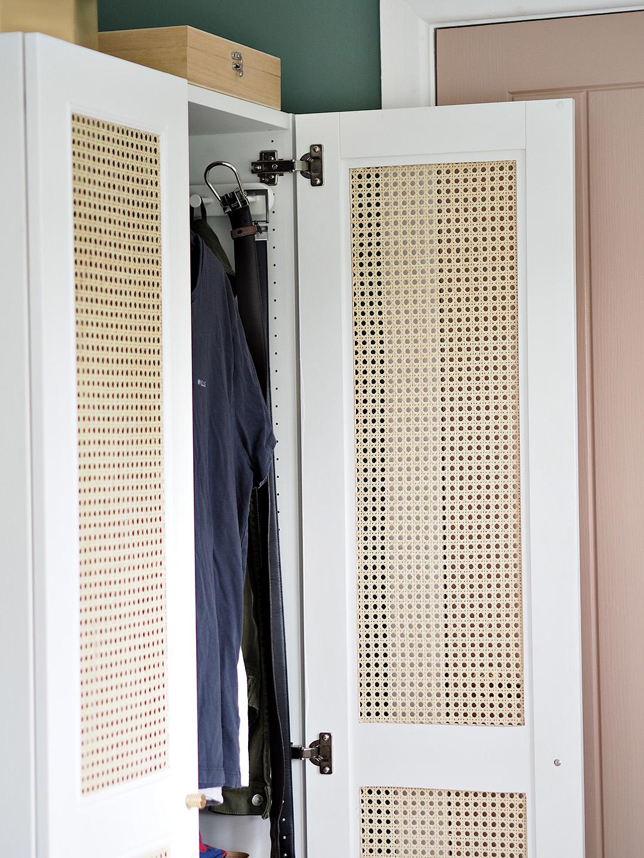 Rattan Cane IKEA Wardrobe Hack