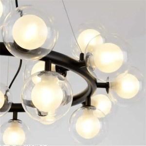 Lustre cercle 25 ampoules