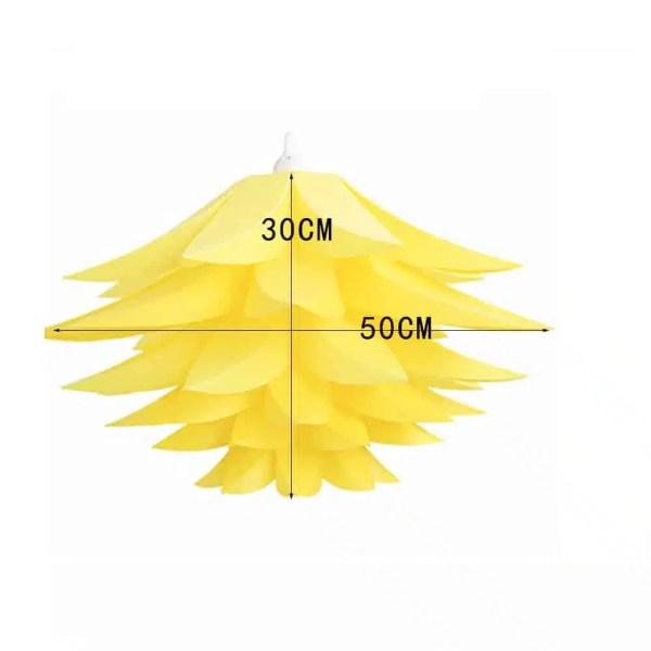 Lustre fleur de lotus jaune
