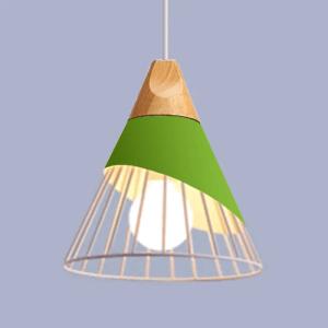 Lustre cône vert