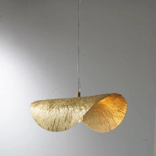 Lustre feuille dorée