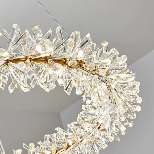 Lustre couronne de cristal LED