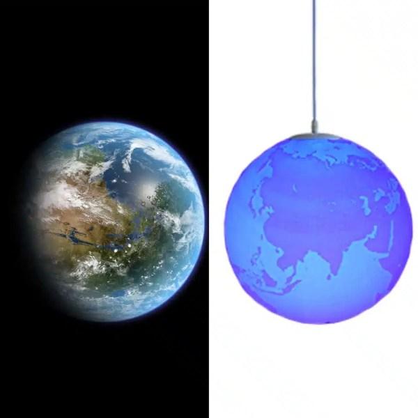 Lustre de la planète Terre