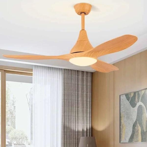 Lustre ventilateur bois