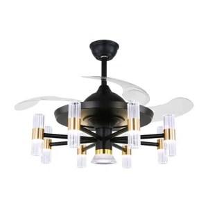 Lustre ventilateur décoration cylindrique