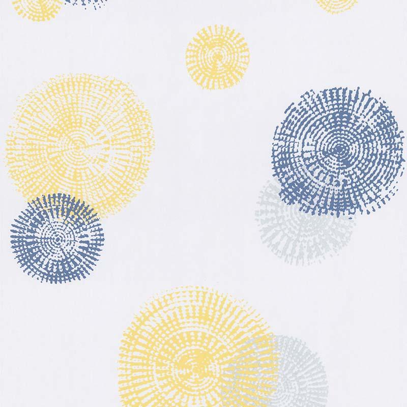 papier peint geosphere jaune et bleu