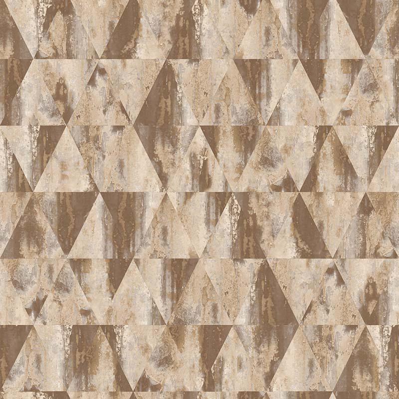 papier peint geometrique marron