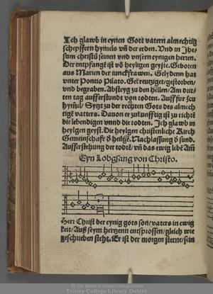 The hymn in one of its original printings