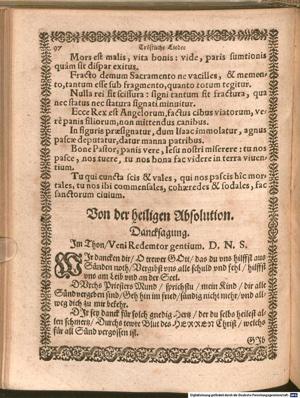 Wir danken dir o treuer Gott (Original 1587)